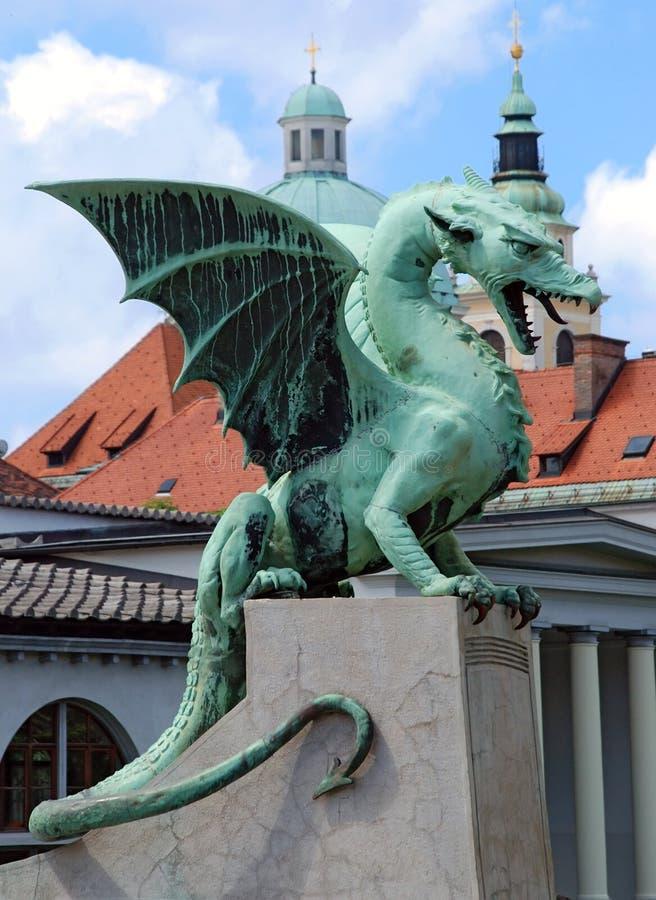 Dragão de Slovenia Ljubljana em Zmajski mais fotos de stock