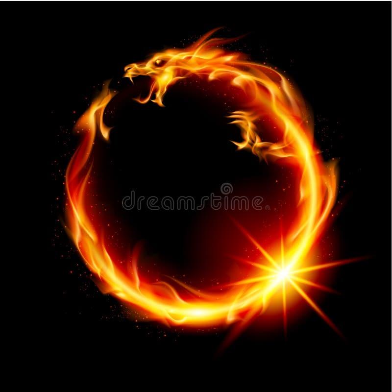 Dragão do incêndio ilustração stock