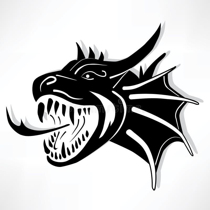 Dragão do inferno ilustração royalty free