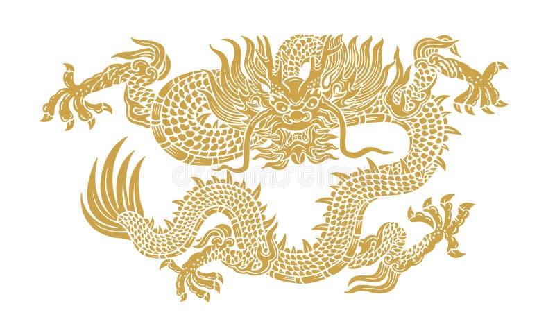 Dragão do ouro ilustração royalty free