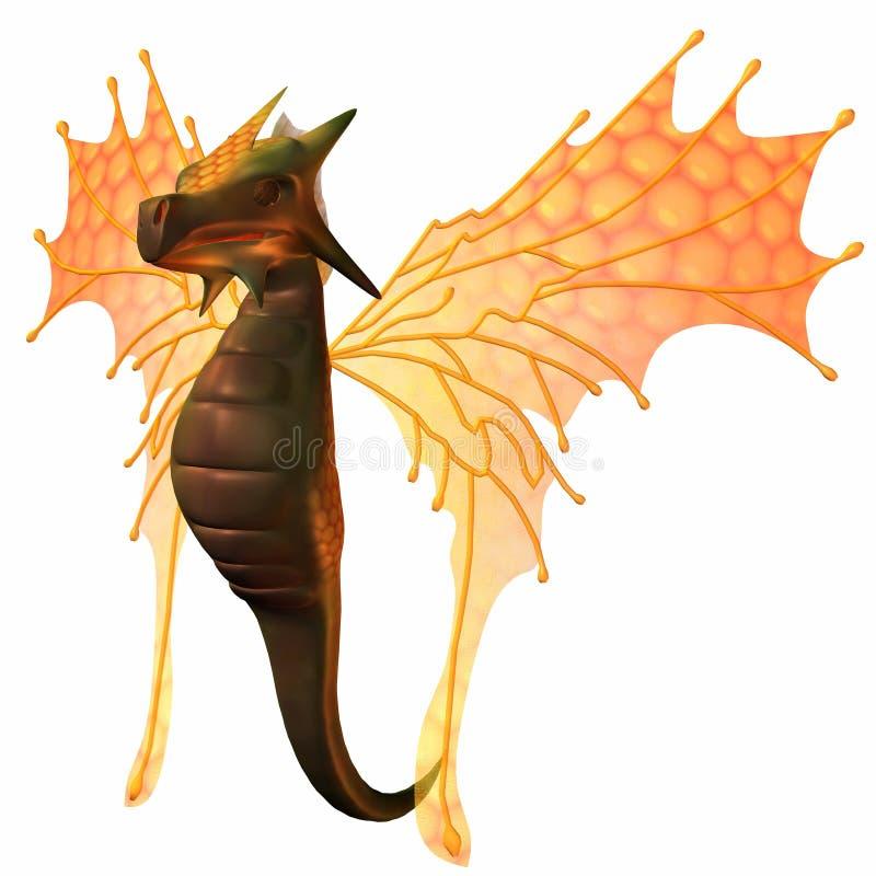 Dragão do país das fadas da fantasia ilustração royalty free