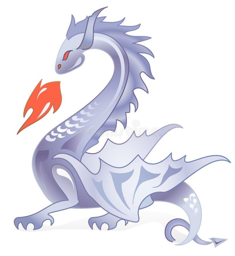 Dragão escuro 4 ilustração stock