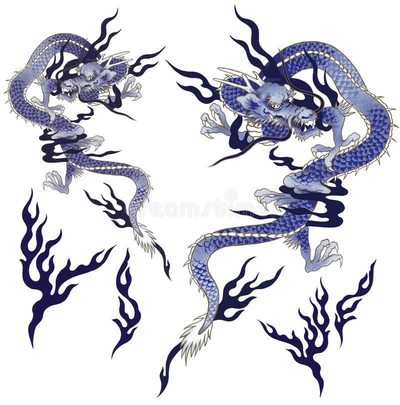 Dragão japonês ilustração royalty free
