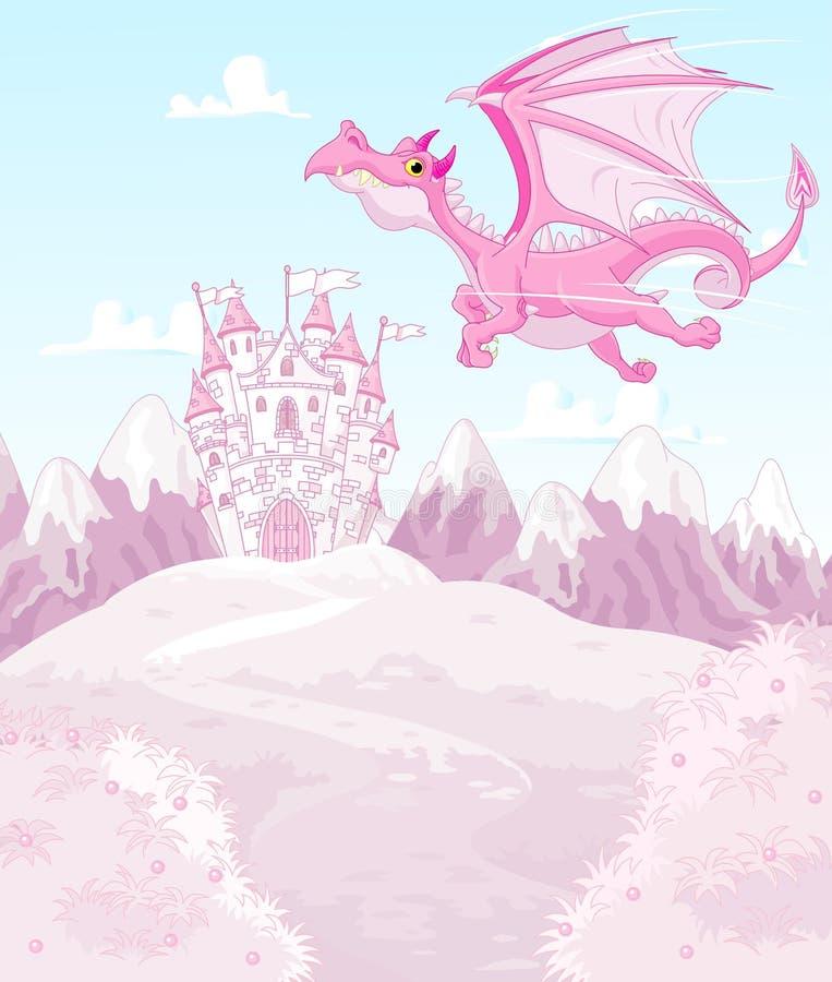 Dragão mágico ilustração stock