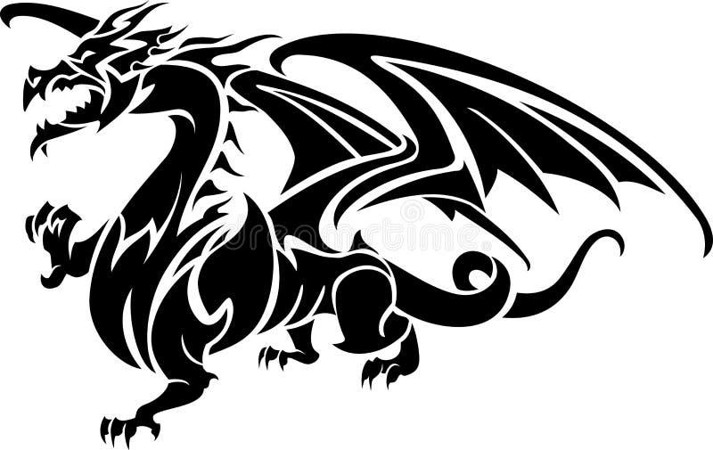 Dragão mítico abstrato ilustração stock