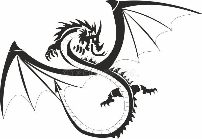 Dragão nacional chinês ilustração do vetor