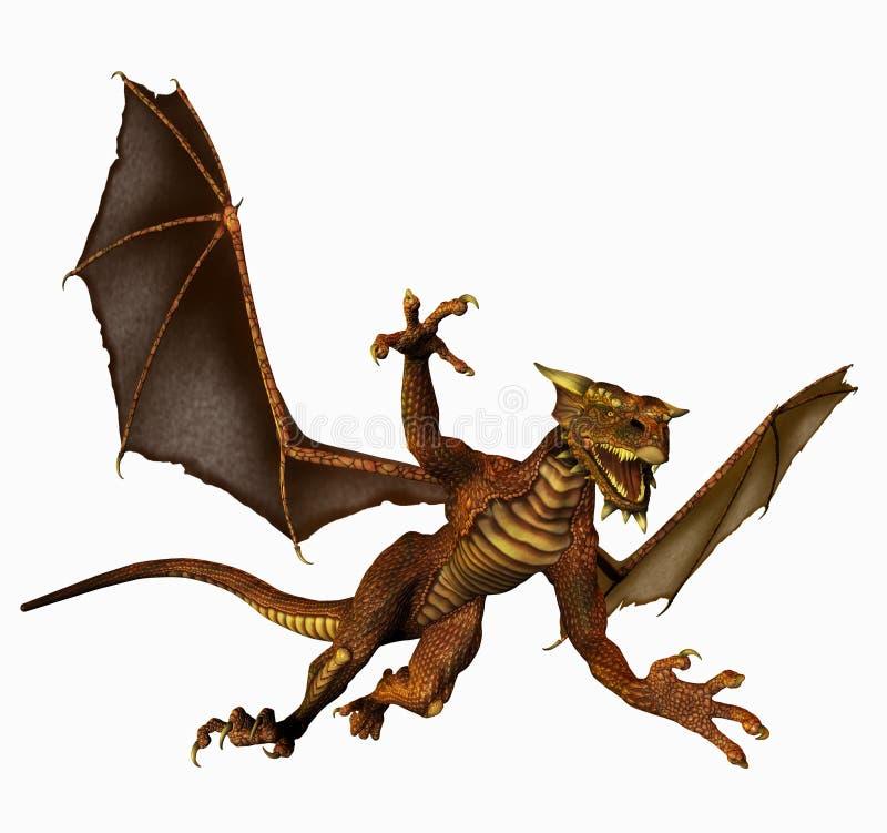 Download Dragão no vôo ilustração stock. Ilustração de scary, asas - 51736