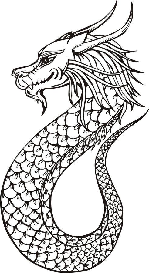 Dragão oriental bonito ilustração do vetor