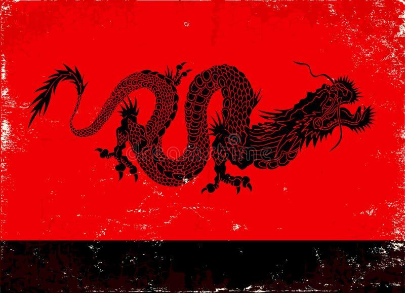 Dragão preto ilustração royalty free