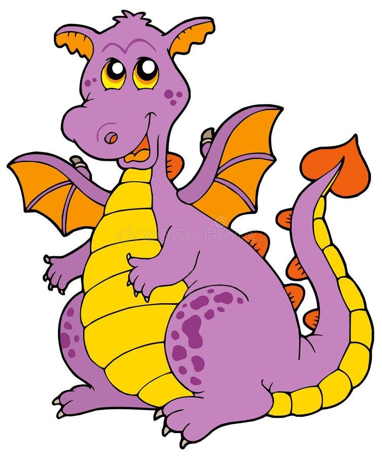 Dragão roxo grande ilustração stock