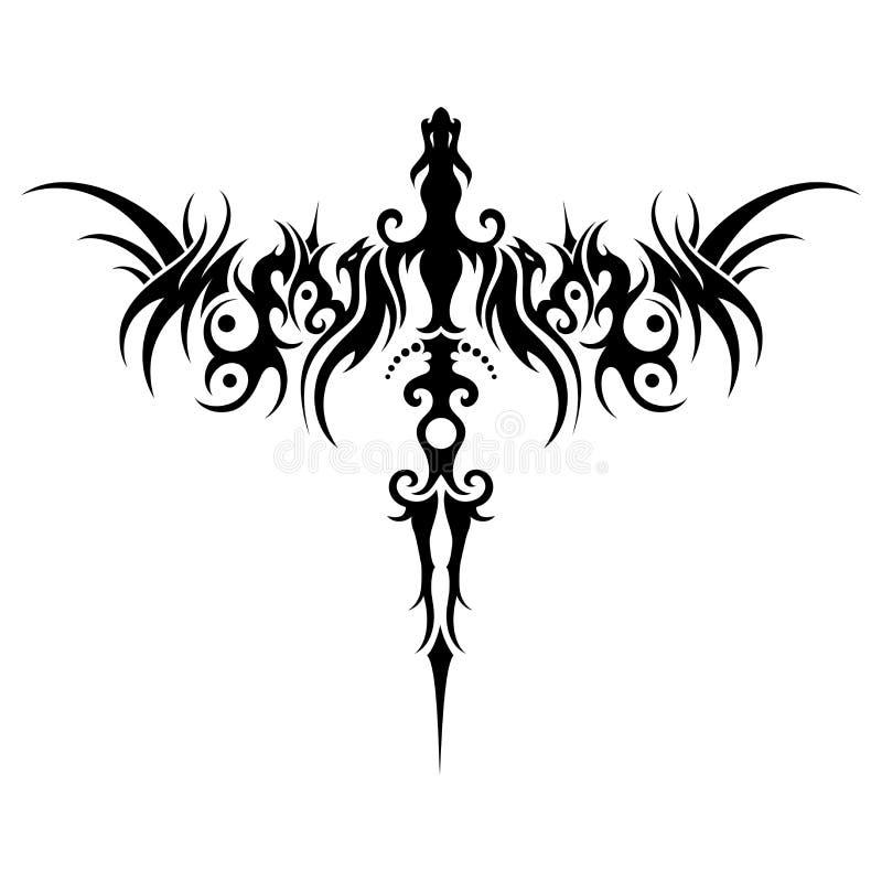 Dragão tribal do vetor ilustração do vetor