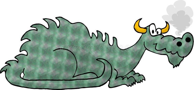 Dragão verde ilustração do vetor