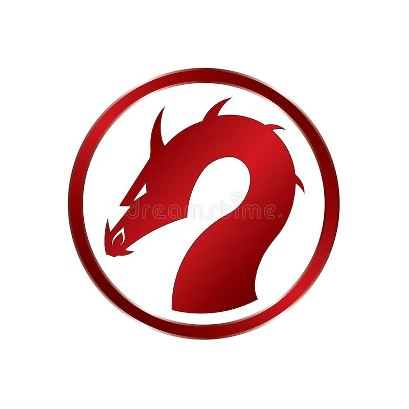 Dragão vermelho ilustração royalty free