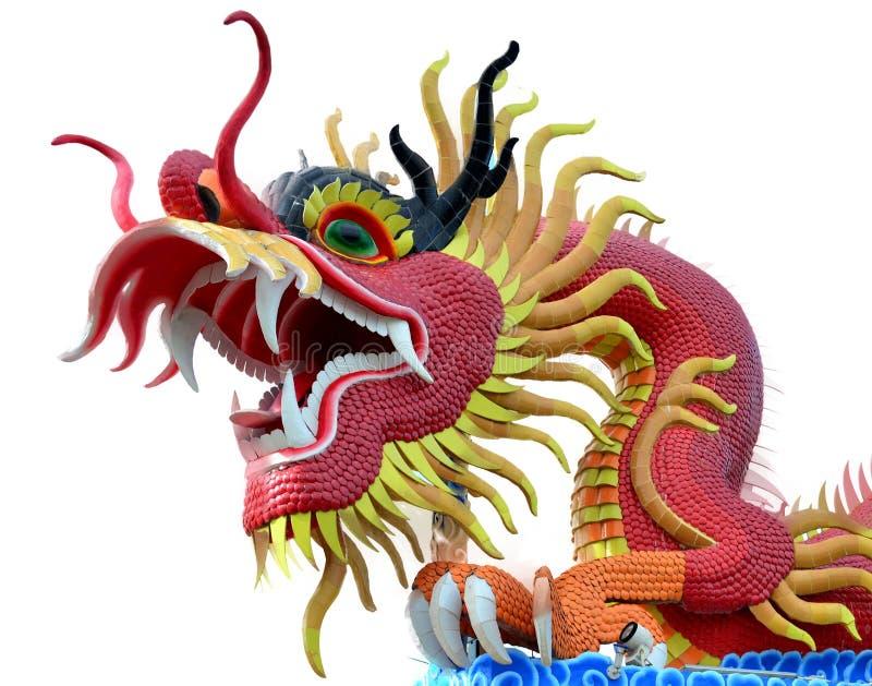 Dragão vermelho isolado fotos de stock royalty free
