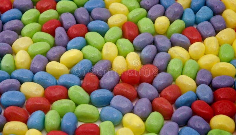 Dragées à la gelée de sucre colorées photos libres de droits