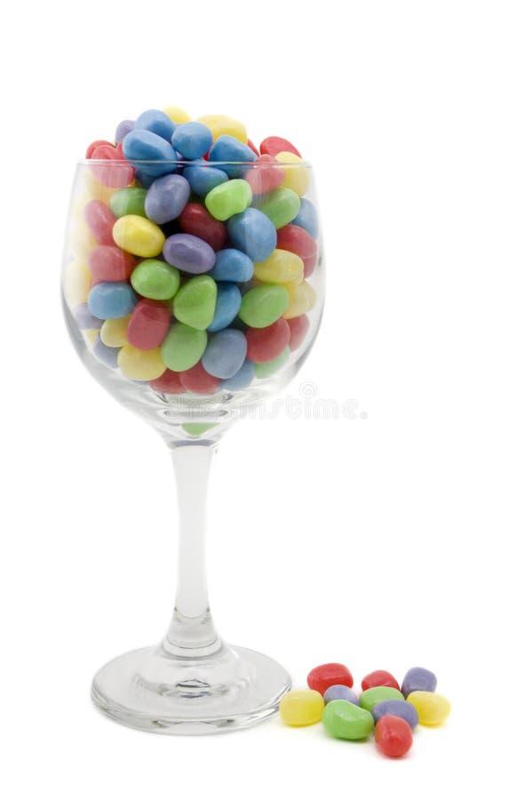 Dragées à la gelée de sucre colorées en glace de vin image libre de droits