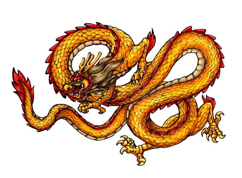 Dragón antiguo chino del estilo ilustración del vector