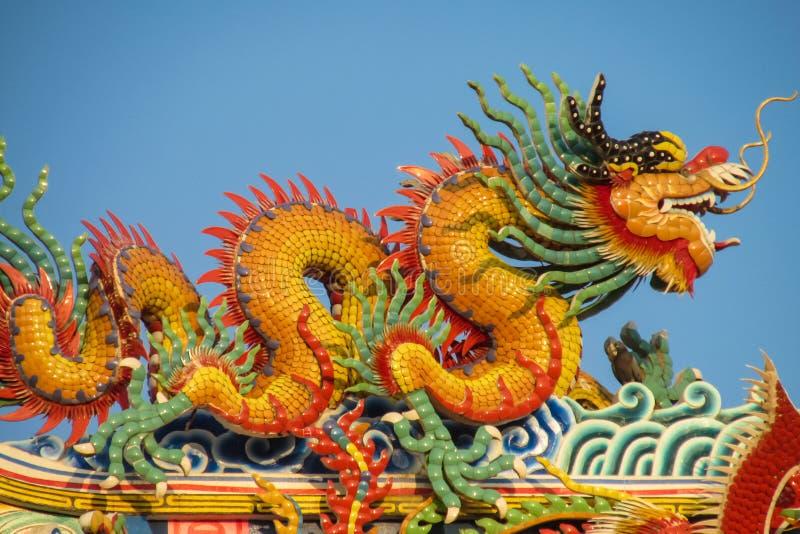 Dragón asiático en el templo chino foto de archivo libre de regalías