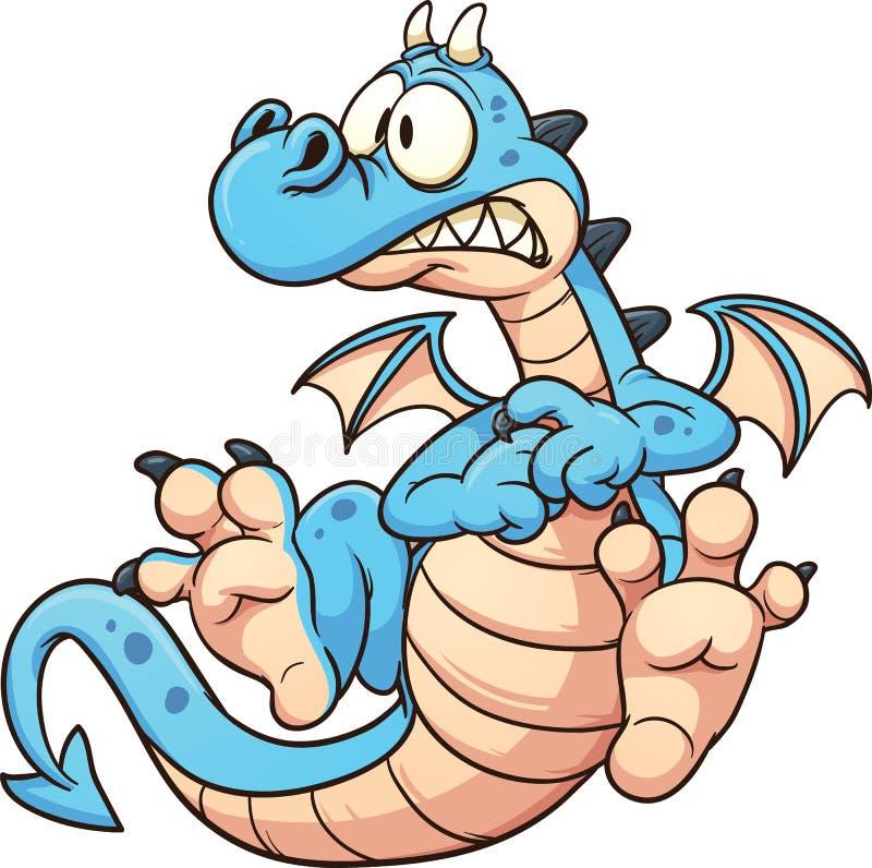 Dragón azul stock de ilustración