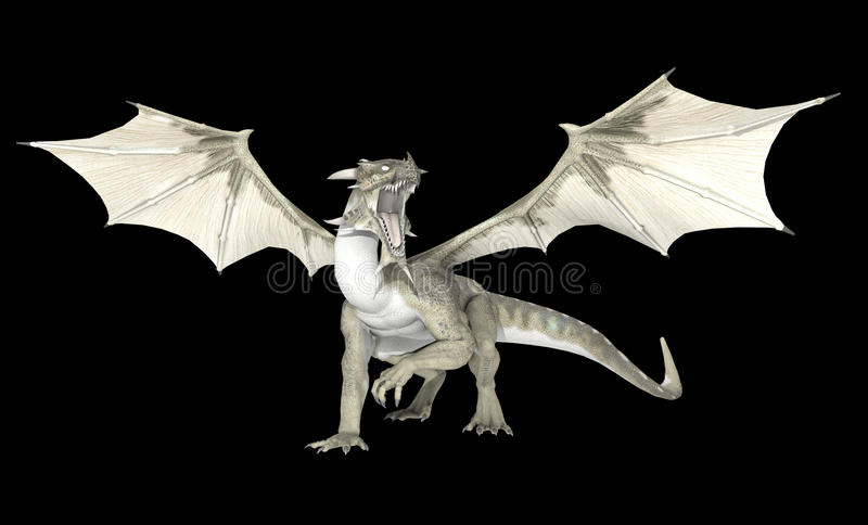 Dragón blanco libre illustration