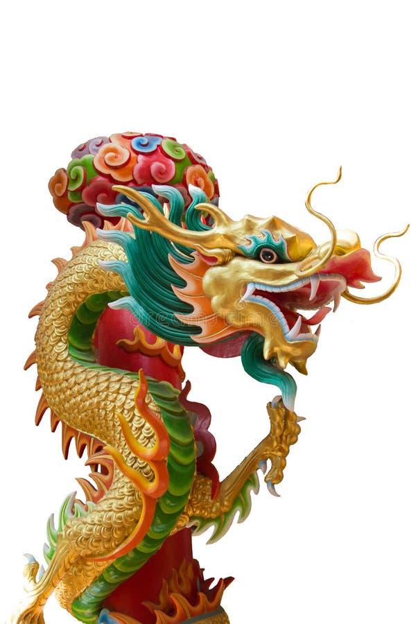 Dragón chino colorido aislado en el fondo blanco foto de archivo libre de regalías