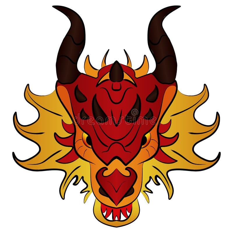 Dragón chino, historieta del ejemplo del vector stock de ilustración