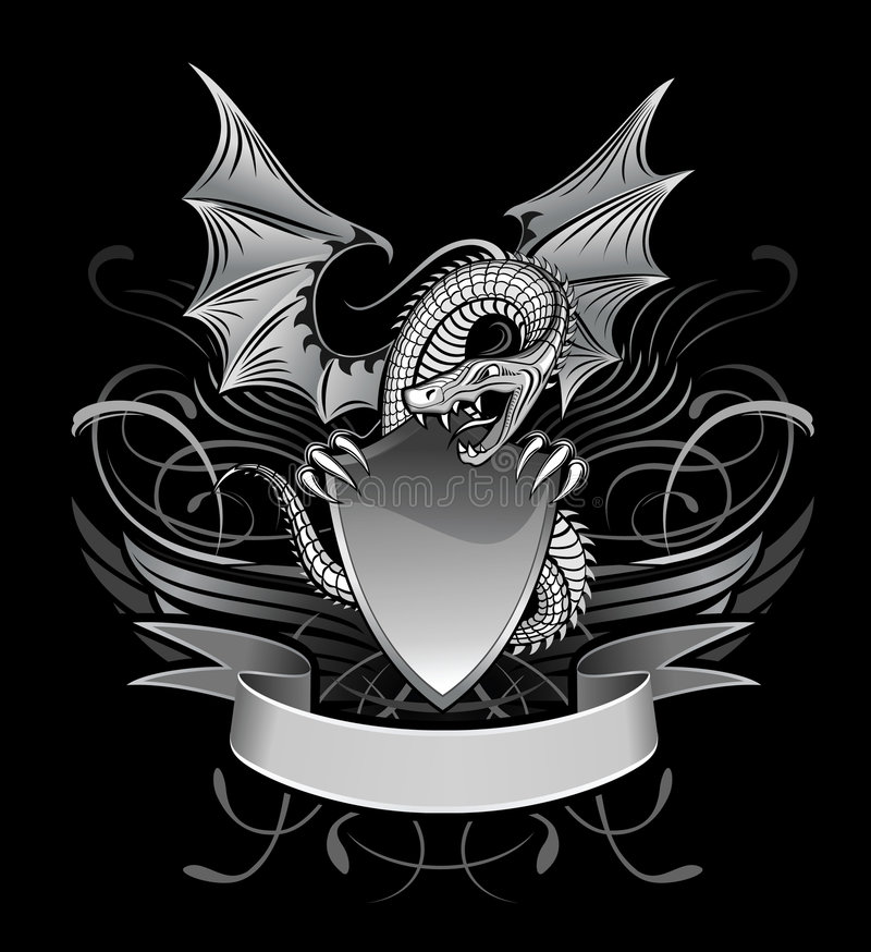 Dragón con alas misterio libre illustration