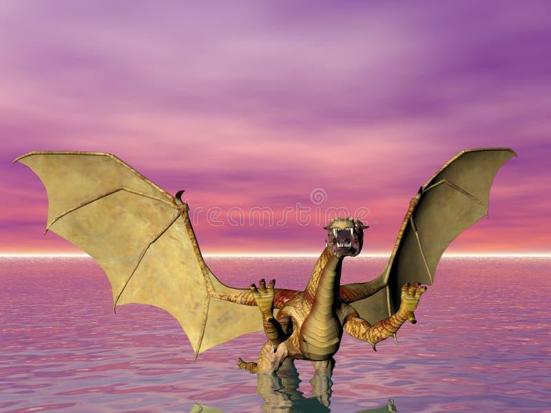 Dragón de agua ilustración del vector