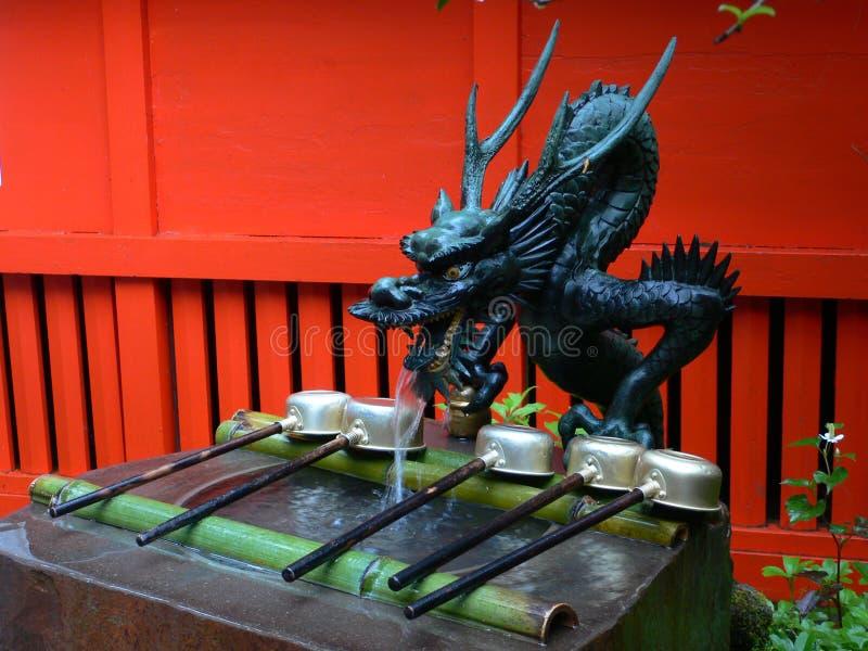 Dragón de agua japonés fotos de archivo