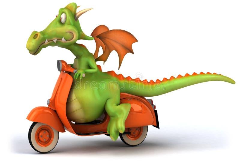 Dragón de la diversión libre illustration
