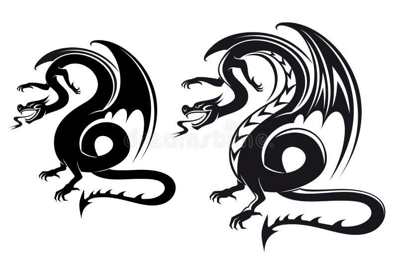 Dragón de la fantasía ilustración del vector