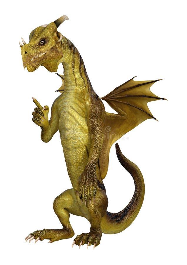 dragón de la fantasía del ejemplo 3D en blanco libre illustration