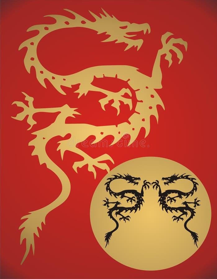 Dragón de la fantasía - vector libre illustration