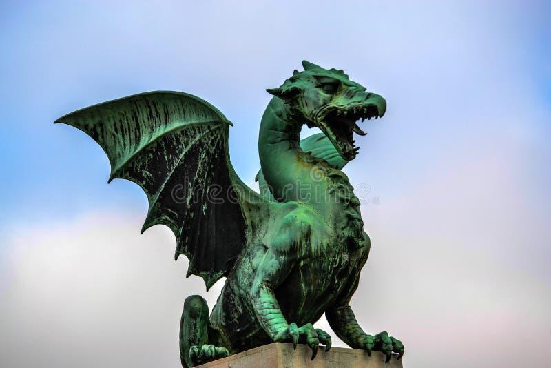 Dragón de Lubiana fotografía de archivo libre de regalías