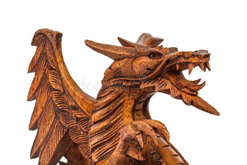 Dragón de madera del juguete fotografía de archivo