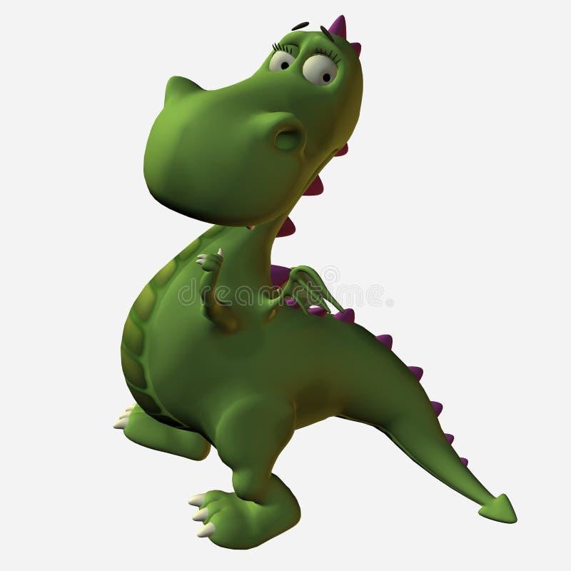 Dragón de Toonimal stock de ilustración