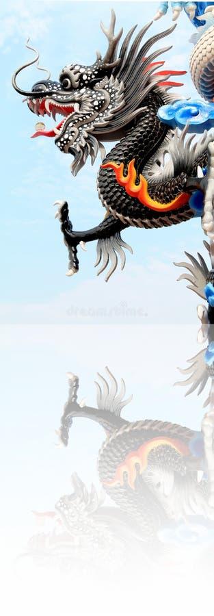 Dragón del baile en festival chino del Año Nuevo fotografía de archivo