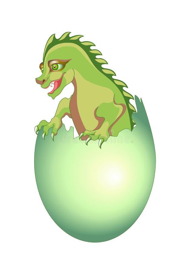 Dragón del bebé ilustración del vector