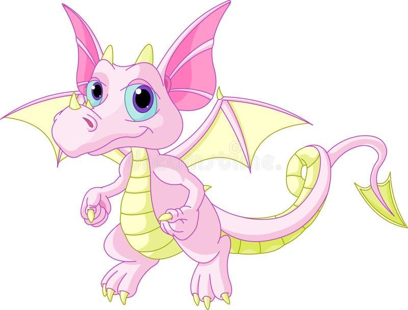 Dragón del bebé de la historieta stock de ilustración
