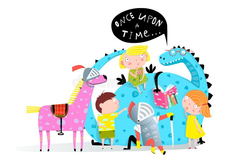 Dragón del libro de lectura a los niños libre illustration