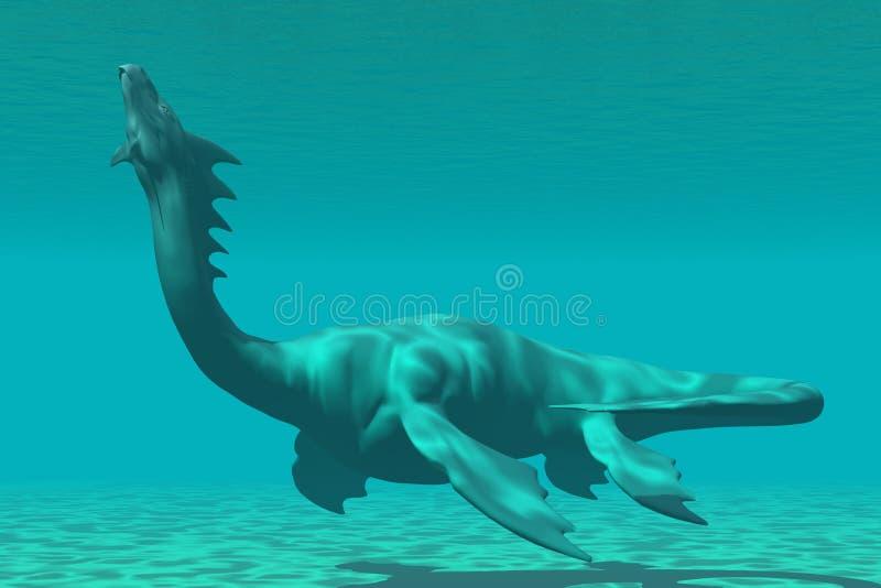 Dragón del mar stock de ilustración
