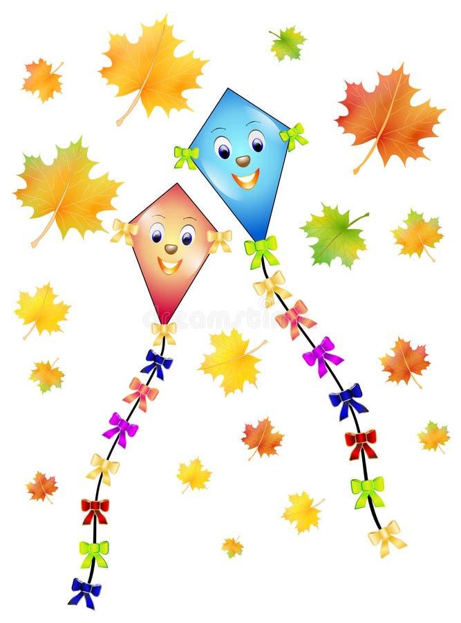 Dragón del otoño ilustración del vector