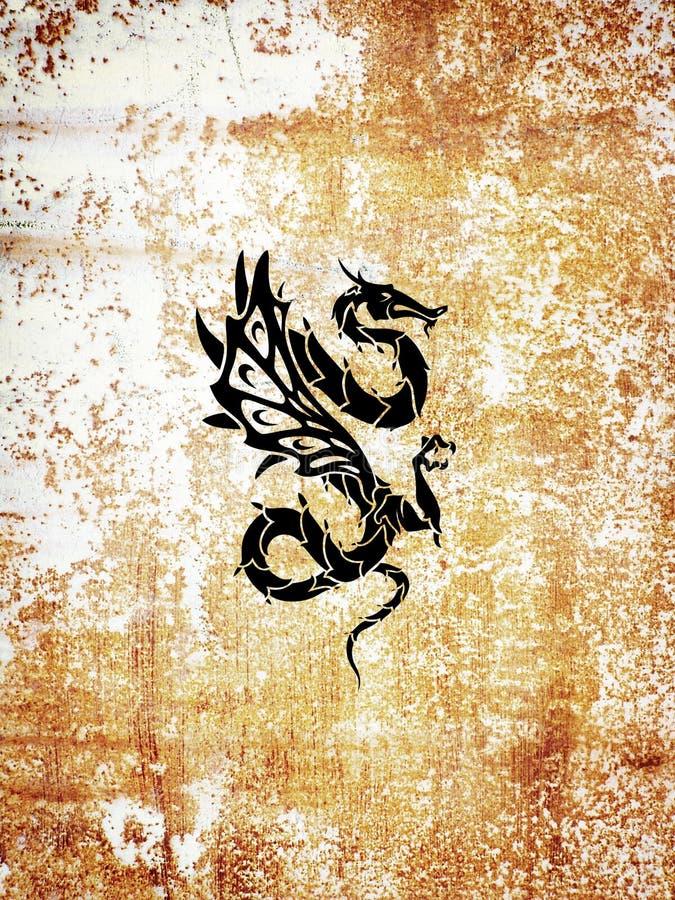Dragón del tatuaje stock de ilustración
