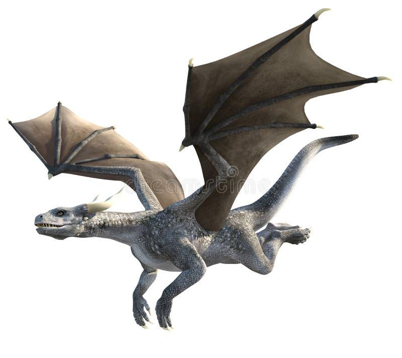 Dragón elegante en el fondo blanco libre illustration