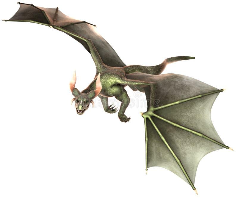 Dragón elegante en el fondo blanco ilustración del vector