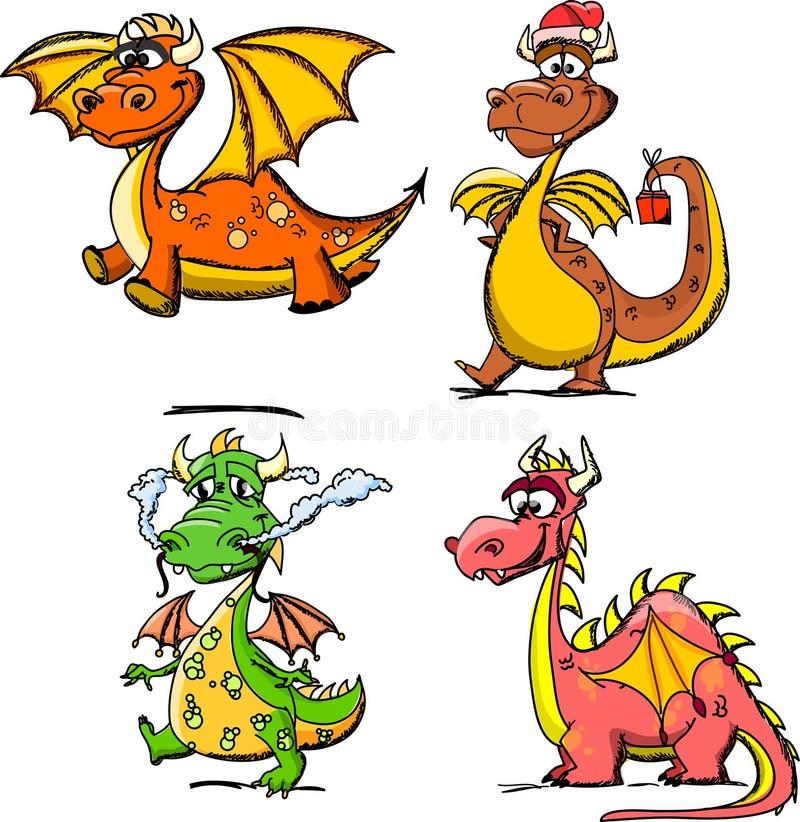 Dragón lindo de la historieta, un símbolo 2012 ilustración del vector