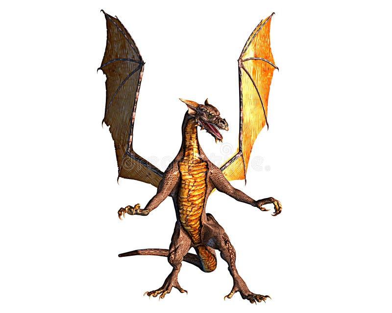 Dragón listo para atacar ilustración del vector