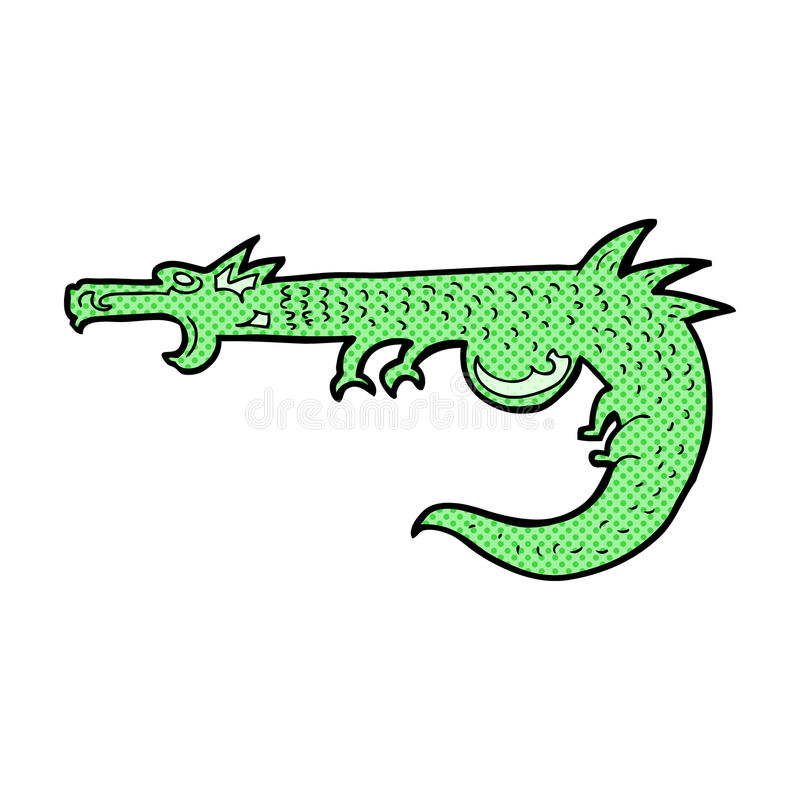 dragón medieval de la historieta cómica ilustración del vector