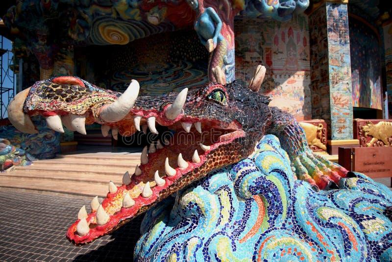 Dragón o rey tailandés del Naga imagenes de archivo