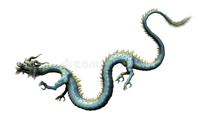 Dragón oriental con el camino de recortes stock de ilustración